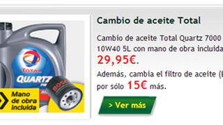 Feu Vert, cambio de aceite desde 25 euros