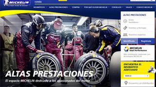 Michelin remodela su web Altas Prestaciones