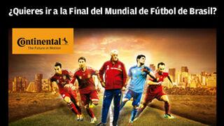 Continental regala viajes a la final del Mundial de Brasil
