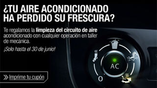 Talleres Renault limpian gratis el circuito de aire acondicionado