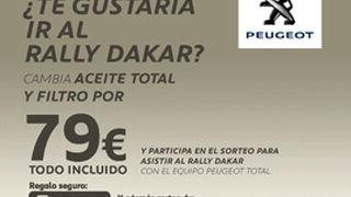 Talleres Peugeot regalan gasolina y sortean viajes al Rally Dakar 2015