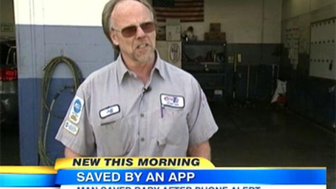 Un mecánico y una app salvan la vida a un bebé en Estados Unidos