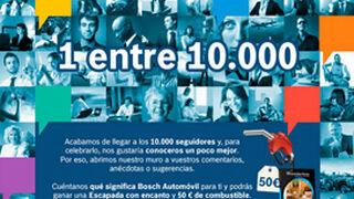 Bosch celebra sus 10.000 fans en Facebook con un concurso