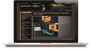 ContiTech rediseña la web de sus componentes de transmisión