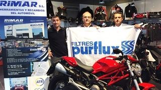 El dueño de un taller Eurorepar se lleva una Ducati de Sogefi