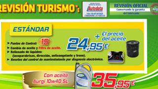 Aurgi ofrece revisiones desde 25 euros