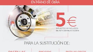 Citroën, mano de obra a cinco euros para cambiar frenos