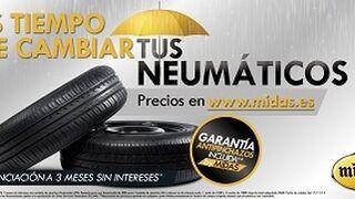 Midas ofrece financiación sin intereses para cambio de neumáticos
