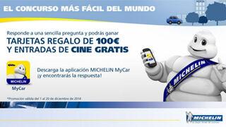 Michelin sortea tarjetas regalo de 100 euros en Facebook