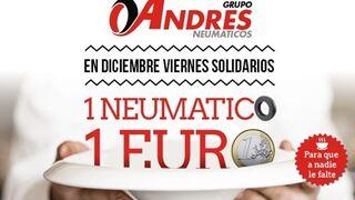 Un euro a Cruz Roja y Cáritas por cada neumático vendido por Grupo Andrés