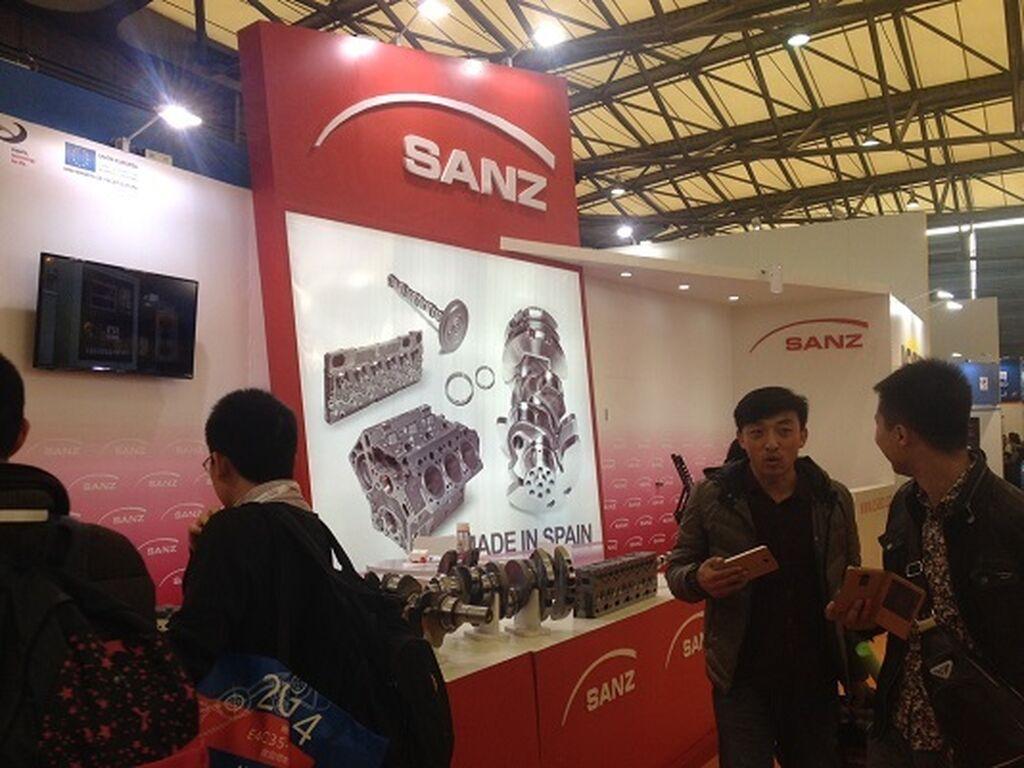 Sanz, especialista en cigüeñales, presente en Shanghai.