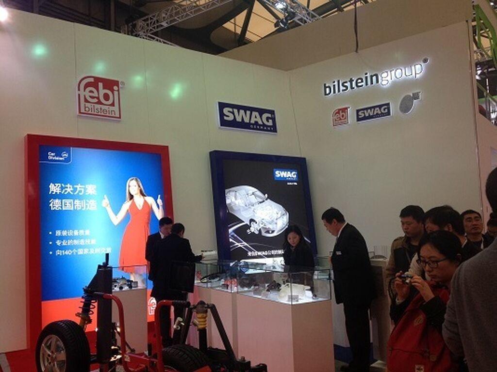 Stand de Febi Group, con sus tres marcas: Febi, Blue Print y Swag.