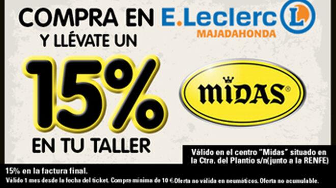 Midas, descuentos para clientes de E. Leclerc Majadahonda
