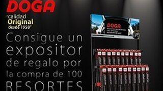 Doga regala un expositor por la compra de 100 resortes neumáticos