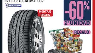 Motortown descuenta el 60% en el segundo neumático Michelin