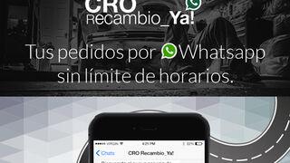 CRO Recambio_Ya!, pedidos por WhatsApp sin límite de horarios