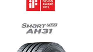 Los neumáticos de camión de Hankook reciben un premio al diseño