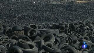 El vertedero ilegal de neumáticos de Seseña (Toledo) llegó a acumular hasta 100.000 toneladas