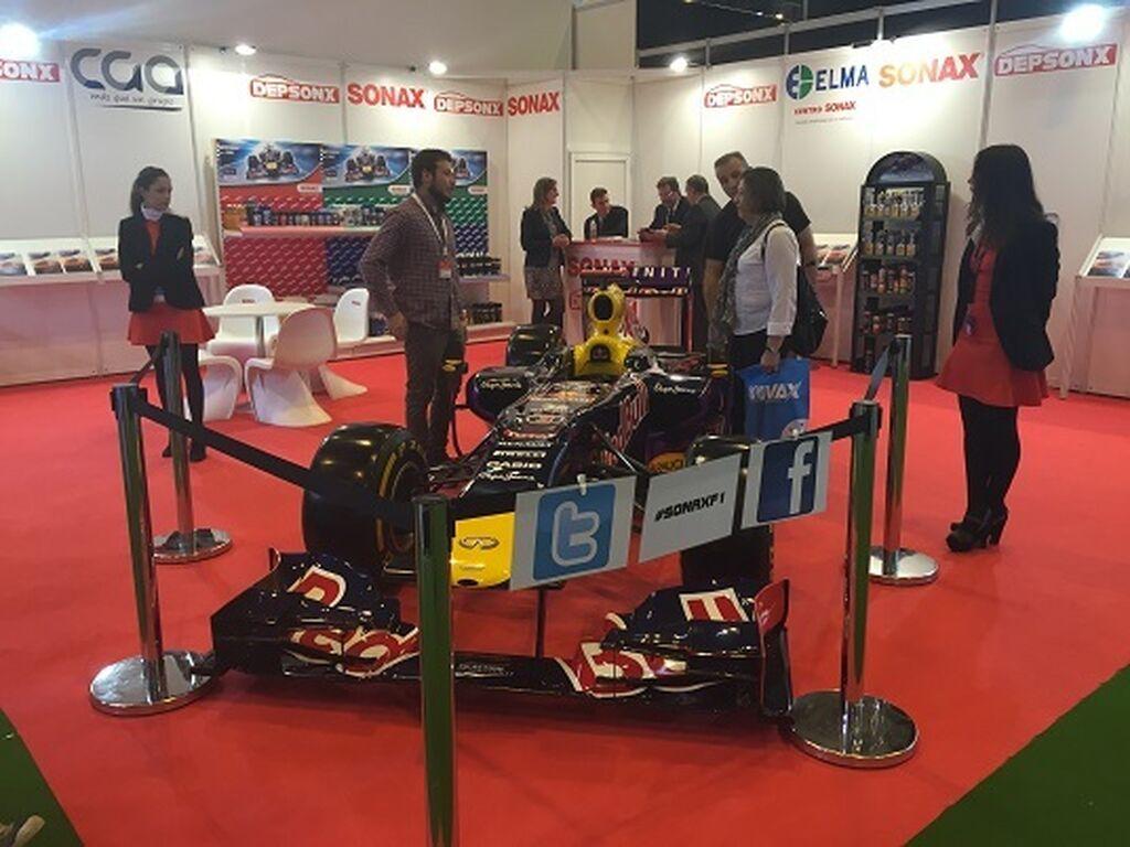 El stand de Depsonx mostró un monoplaza del equipo Red Bull de F-1