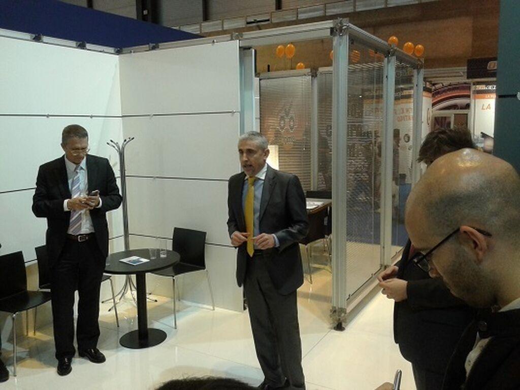Joan Alcaraz, director general de TAB Spain, en la presentacion de las novedades de la compañia