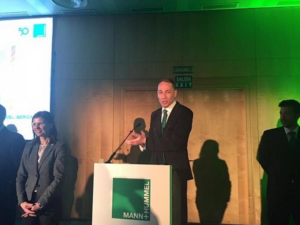 Jorge Sala, director comercial de Mann, en la celebración del 50 aniversario de la compañía en España.