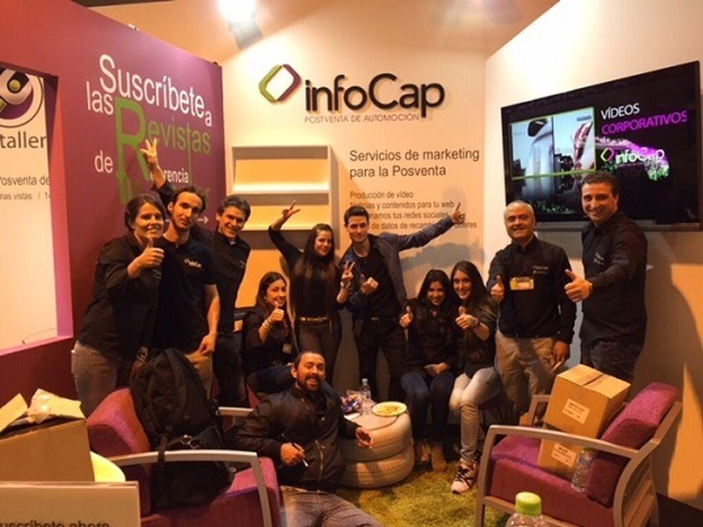 El equipo de InfoCap / InfoTallerTv presente en el feria