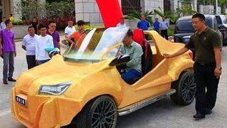 Una empresa china presenta un vehículo fabricado con impresora 3D por 1.600 euros