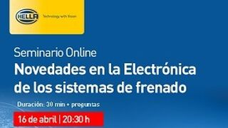 Hella imparte un seminario online gratuito de electrónica de sistemas de frenado