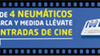 Euromaster regala entradas de cine por cambiar 4 neumáticos