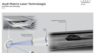 Audi y Bosch preparan una nueva tecnología de luz láser inteligente