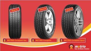 Motrio, más oferta de neumáticos con su gama Conquest