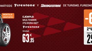 Motortown descuenta el 60% en la segunda unidad de neumáticos Bridgestone y Firestone