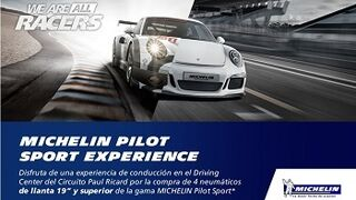 Experiencia de conducción en Paul Ricard al comprar cubiertas Michelin