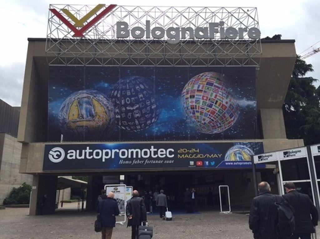 Entrada de la Feria de Bolonia.