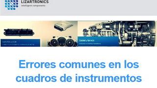 Lizartronics analiza los errores comunes en los cuadros de instrumentos