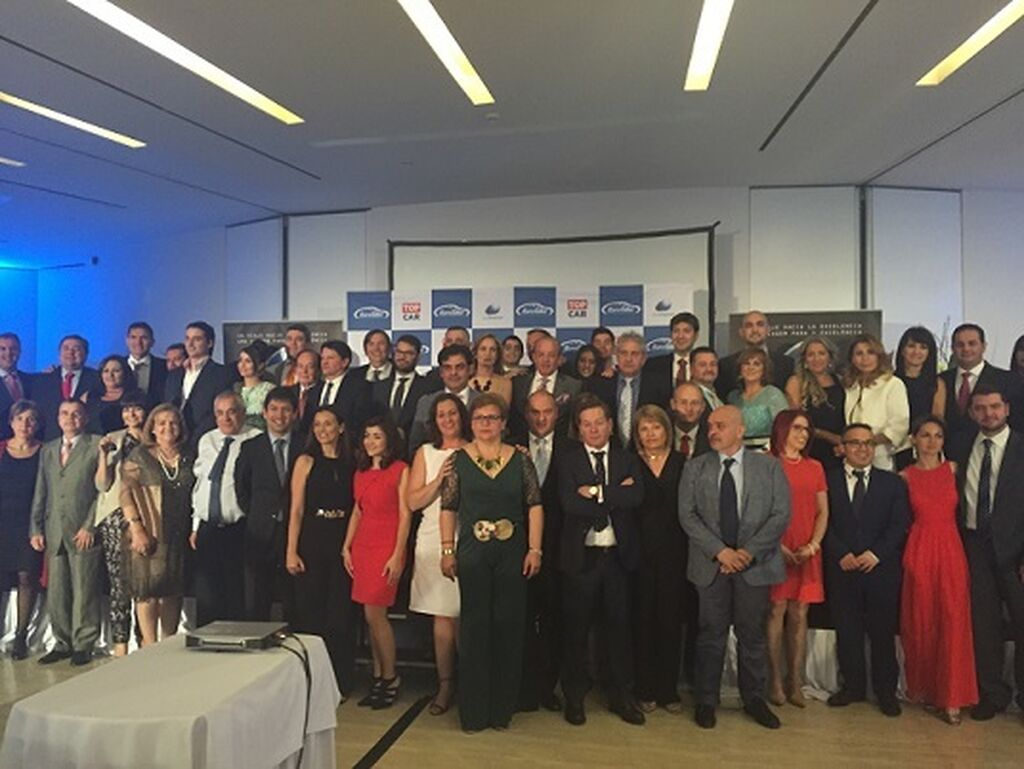 Foto de familia de todos los ganadores.