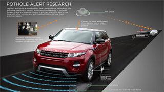 Jaguar Land Rover desarrolla un detector de baches en la nube