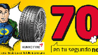 Euromaster descuenta el 70% en el segundo neumático Kumho