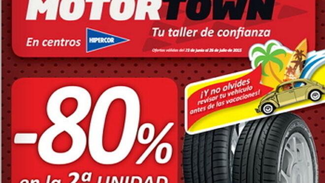 Motortown descuenta el 80% en el segundo neumático Goodyear o Dunlop