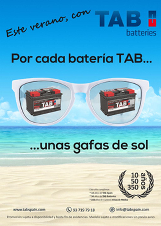 0caf529c56 TAB Spain regalará gafas de sol por comprar baterías