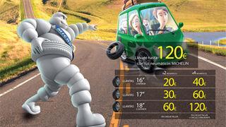 Michelin regala carburante y cheques-taller por montar sus cubiertas