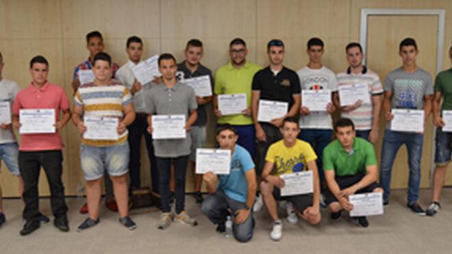 La cantera del taller en Madrid recibe su diploma