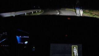Ford desarrolla un sistema de iluminación que detecta personas y animales en la oscuridad