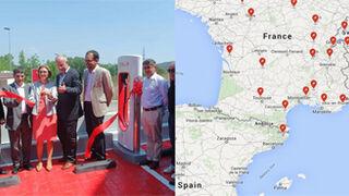 Tesla se estrena en España con su primer supercargador