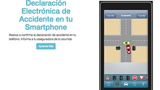 Una app permite rellenar desde el movil el parte de accidentes