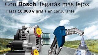 Bosch regala carburante por cambiar el motor de arranque o el alternador