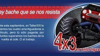 Taller XXI ofrece 4x3 en amortiguadores a sus clientes