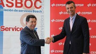 Asboc promoverá los lubricantes Cepsa entre la red Bosch Car Service