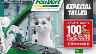 Feu Vert regala hasta 100 € en carburante al comprar neumáticos Firestone