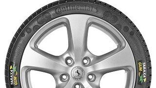 Continental ya prueba en coches su neumático Taraxagum